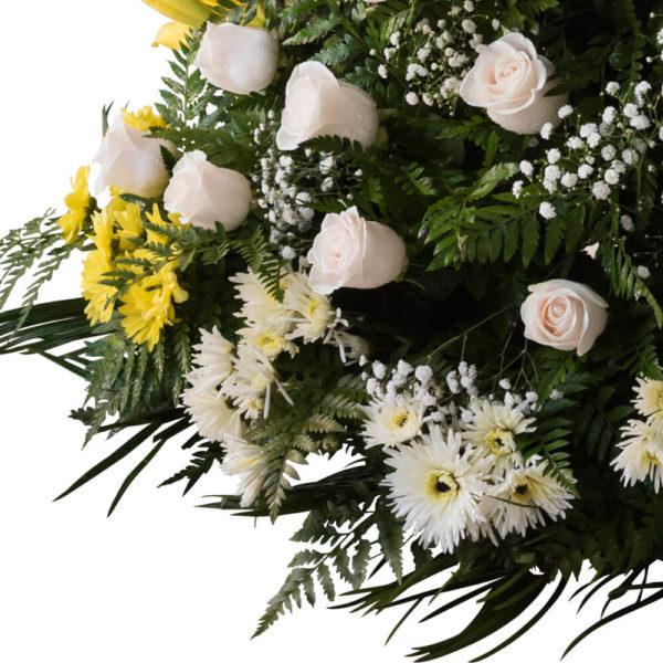 Palma Natural Premium - Flores, coronas para condolencias, velatorios, arreglos fúnebres, Florería La Fleur, Montevideo, Uruguay.