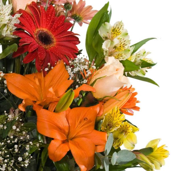 Ramo Bouquet Variado en Florero - Envío de flores y plantas, Florería La Fleur, Montevideo, Uruguay.