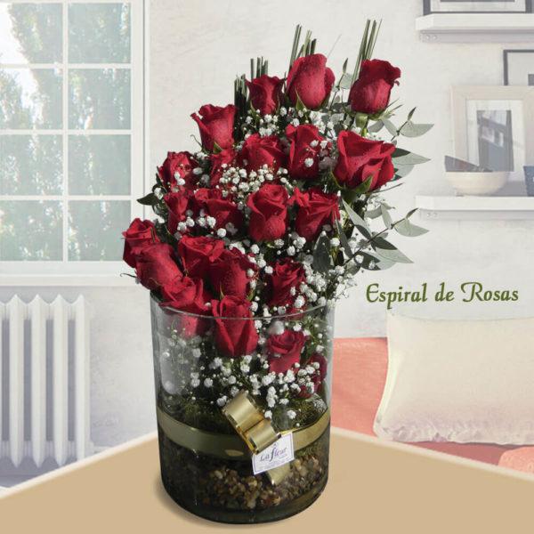 Arreglo Floral Espiral de Rosas.
