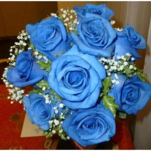 Ramo de Novia de Rosas Azules - Envío de flores y plantas, Florería La Fleur, Montevideo, Uruguay.
