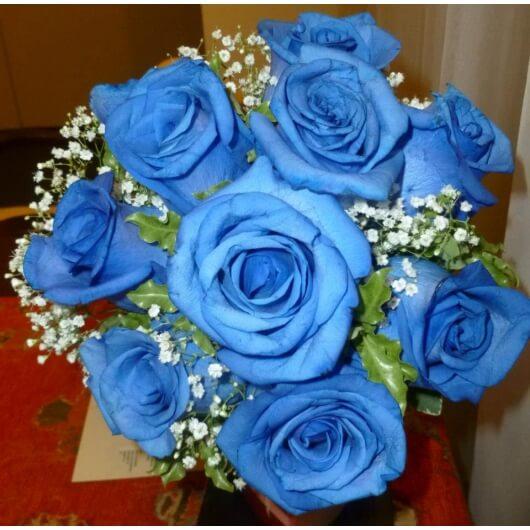 Ramo De Novia De Rosas Azules P Casamiento Boda Florería La Fleur