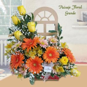 Arreglo Floral Paisaje Floral Grande - Envío de flores y plantas Florería La Fleur, Montevideo, Uruguay.